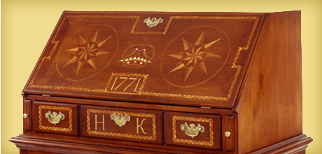 Chester County Inlaid Desk on Frame