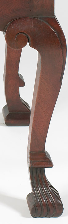 Pennsylvania Spanish Foot Dressing Table Leg Detail