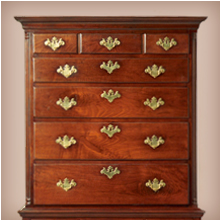 Flat Top Spanish Foot Highboy