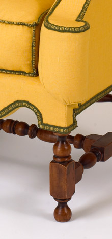 William and Mary Easy Chairs Leg Detail