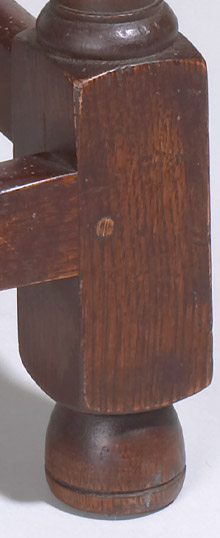 Massachusetts Joint Stool Leg Detail