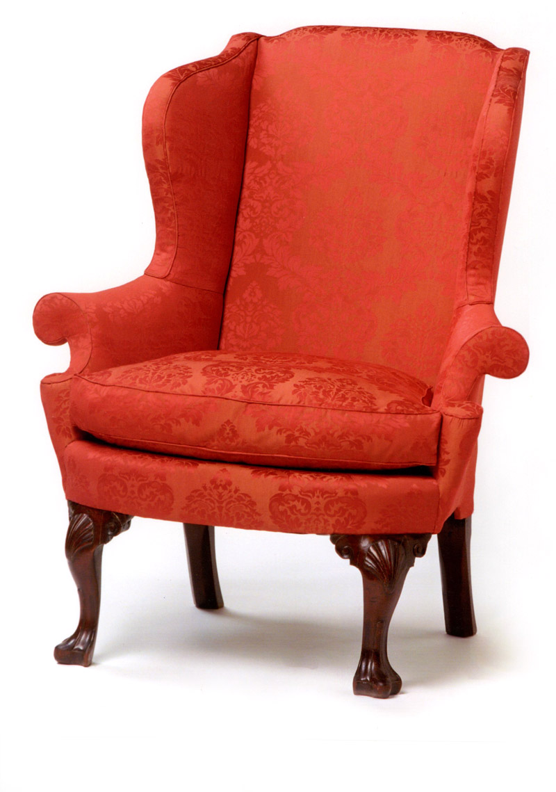 Philadelphia Queen Anne Shell & Voluted Knee Easy Chair