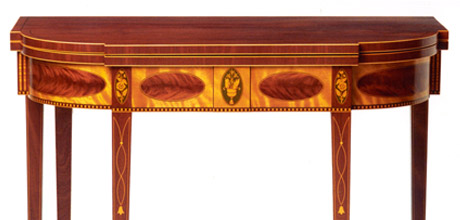 New York Inlaid Game Table