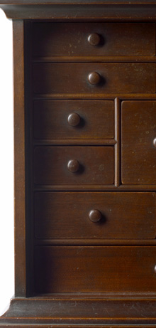 Line and Berry Spice Cabinet Inside Detail